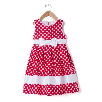 Red Polka Dot And Bow Dress - Party Princess