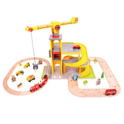 Road And Rail Multi-level Crane Set - Big Jig Toys