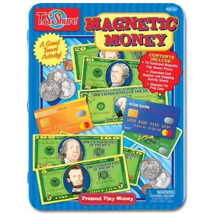 Pretend Play Money Magnetic Tin Play Set - TS Shure
