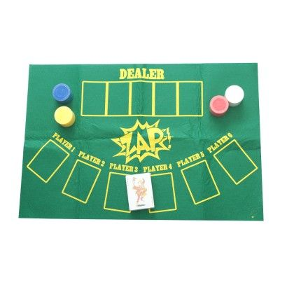 Zap- Casino Set (black Jack Mat, Poker Chips And Cards) - Total Gift Solutions