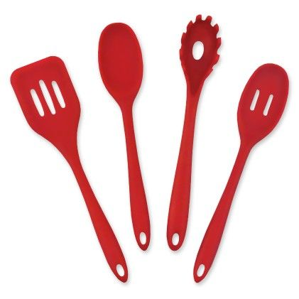 Red 4 Piece Kitchen Cooking Set - Design Imports