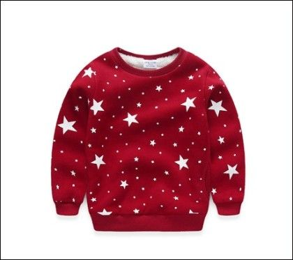 Stars Print Sweatshirt By Mauve - Kids Wardrobe
