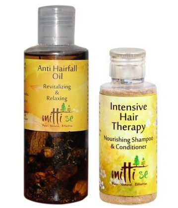 Intensive Hair Therapy Shampoo & Conditioner Combo - Mitti Se