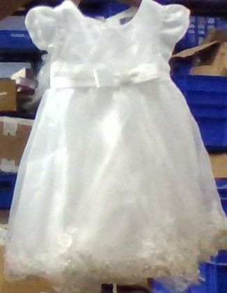 Hite Party Frock With Pearl Bow (do Not Make Active) - A.T.U.N