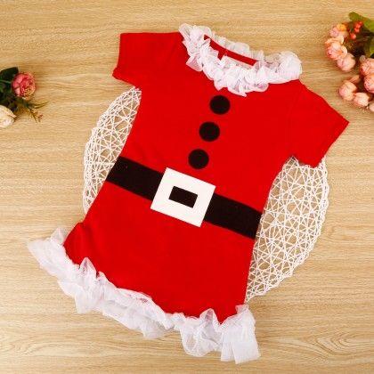 Beautiful Red Ruffled Dress - Snuggle Bunny