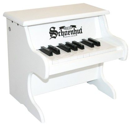 18 Key My First Piano (white) - Toy Piano