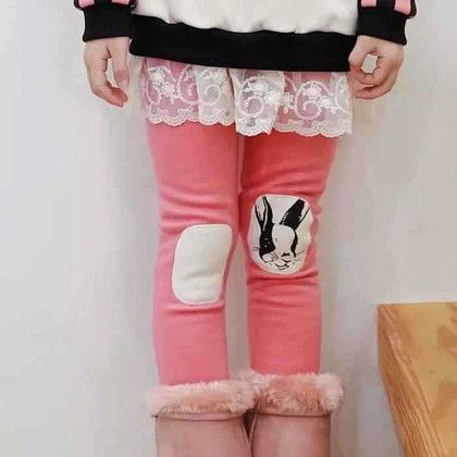 Winter Rabbit Leggings - Pink - Mauve Collection