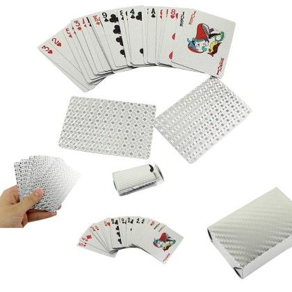 Silver Plated Playing Cards - Total Gift Solutions