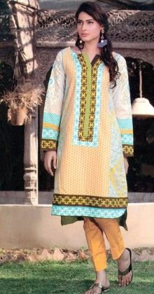 Embroidered Kurti Collection White - Mauve Collection