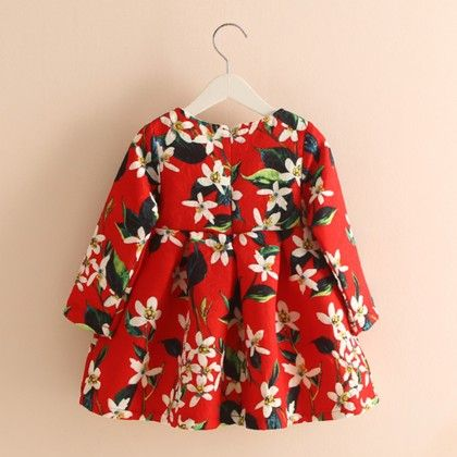 Floral Fleece Dress - Mauve Collection