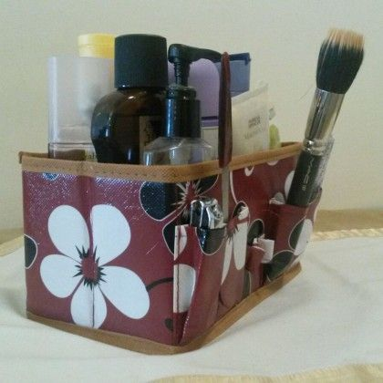 Cosmetic Organiser Brown - Total Gift Solutions