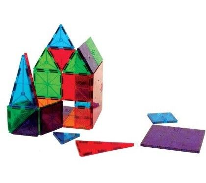 Clear Colors Magna Tiles 100 Pc Set - Constructive Playthings