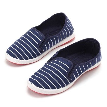 Belle Shoes Blue With White Stripe - Gift Shoes