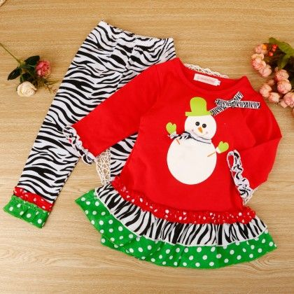 Cute Snow-man Two Piece Set - Snuggle Bunny