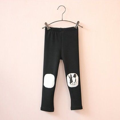 Winter Rabbit Leggings - Black - Mauve Collection
