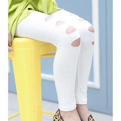 Hi Fashion Leggings For Gals By Mauve - White - Mauve Collection