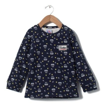 Boys Blue Sweat Shirt With Boat Print - Madcute