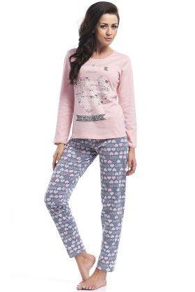 Home Is Where The Heart Is Pyjama Set-pink - Dobranocka