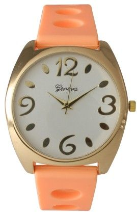 Silicone Coral Strap Band Watch - Vernier Watches