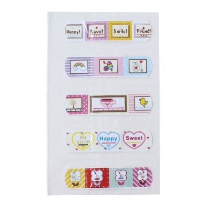 Assorted Printed 5 Band Aids - Diya