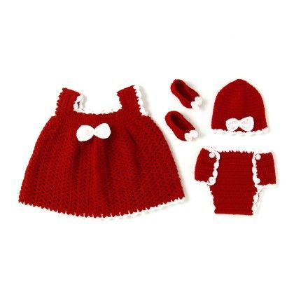 Red Rose Dress Set - Red - HighKnit