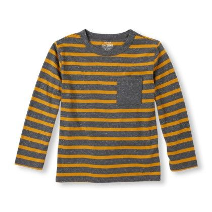 Long Sleeve Striped Marled Knit Top - The Children's Place