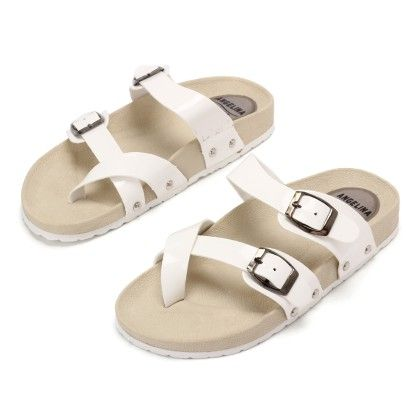 Casual Sandal With White Stripe - Gift Shoes