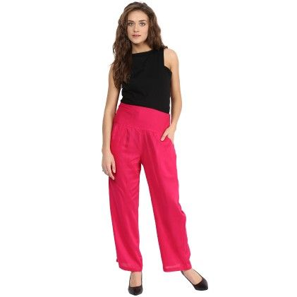 Shopingfever Rani Colour Trouser With Side Zipper