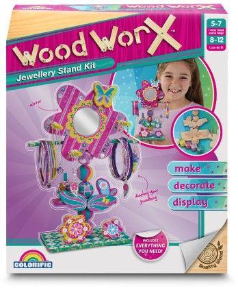 Wood Worx Jewellery Stand Kit - Colorific Education