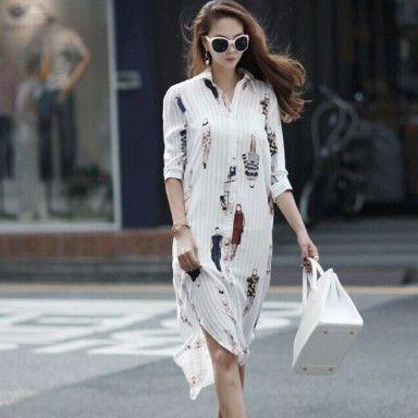 Printed Shirt Dress - Oomph