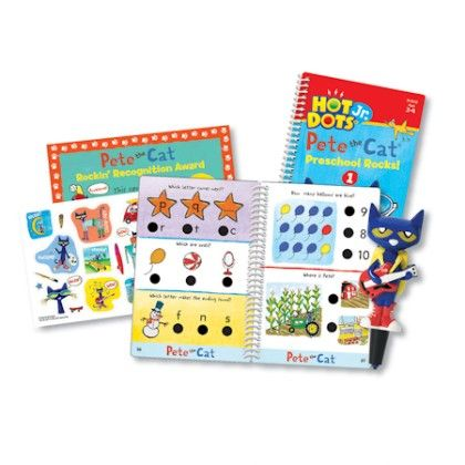 Hot Dots Jr Pete The Cat Preschool Rocks Set & Pen - Educational Insights
