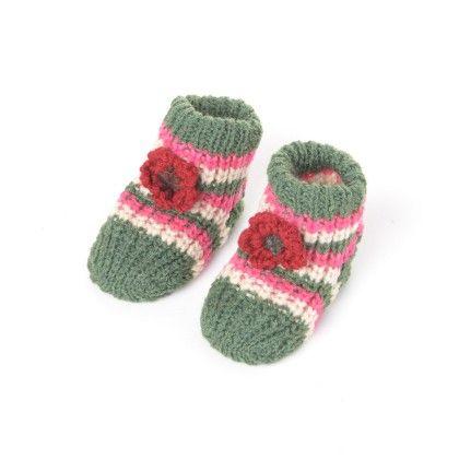 Woolen Booties Dk. Green - Janya - 232871