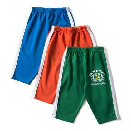 Asortted Track Pants Set Of 3 ( Double Strips )- Orange  Green And Blue - ZERO