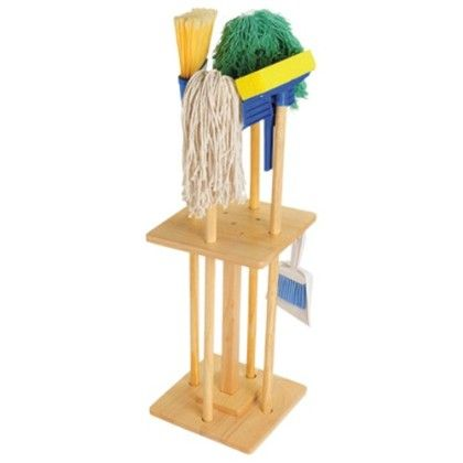Complete Set Of House Cleaning Tools With Stand - Constructive Playthings