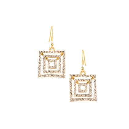 Gold Plated Danglers With Austrian Diamonds - Voylla