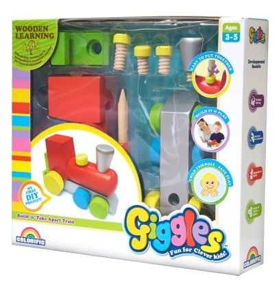 Giggles Build 'n' Take Apart Train - Colorific Education