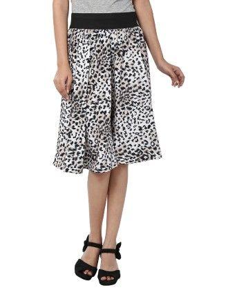 Shopingfever Printed Womens A-line Skirt