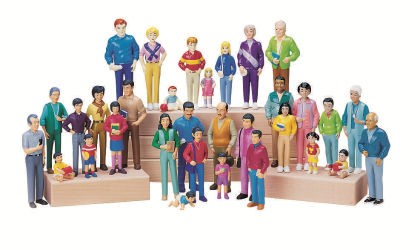 Pretend Play Families - Set Of 4 - Constructive Playthings