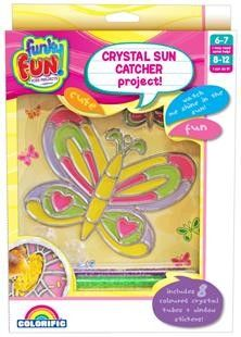 Kids Projects Crystal Sun Catcher Window Scenes Project- Butterfly Only - Colorific Education