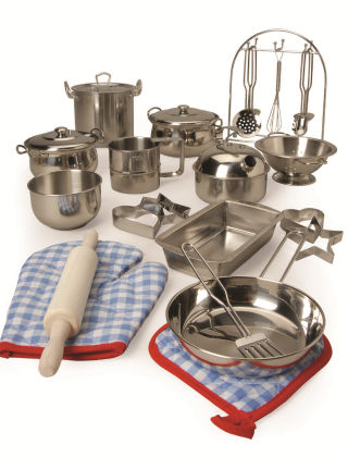 All-play Stainless Steel Cookware Set - Constructive Playthings