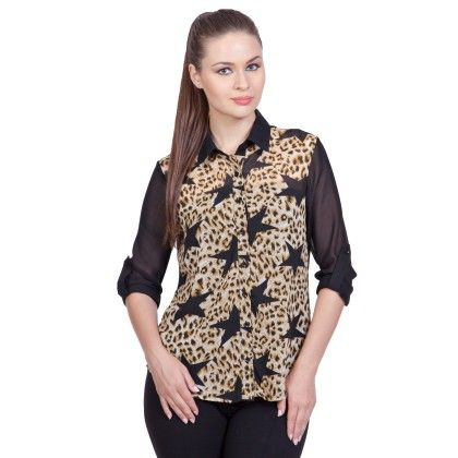 Jungle Star Shirt With Roll Up Sleeve - StyleStone