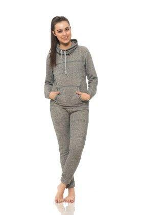 Womens Long Sleeve Cowl Neck Sweatshirt Grey - S2 Sportswear