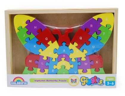 Giggles Alphabet Puzzles - Butterfly - Colorific Education