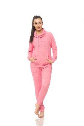 Womens Long Sleeve Cowl Neck Sweatshirt Pink - S2 Sportswear