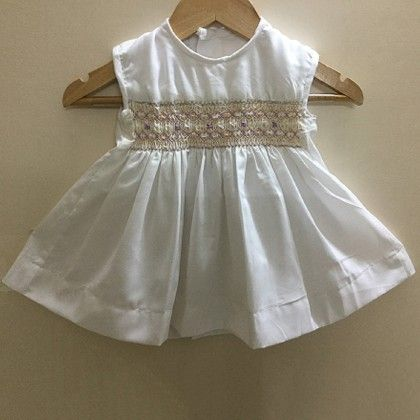 Baby Frock With Coloured Smocking - Angel Closet