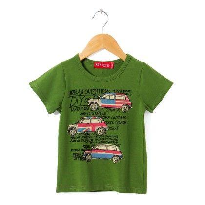 Green Round Neck T-shirt - NODDY