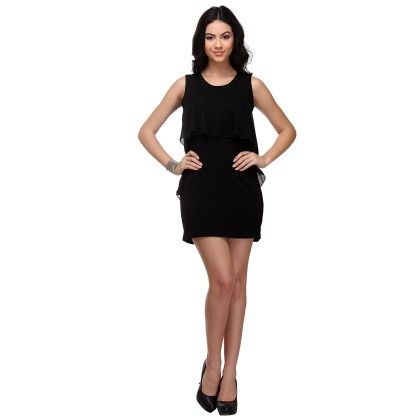 Frill Dress Black - Varanga