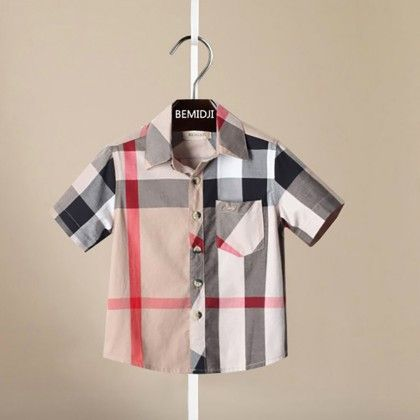 Classy Plaid Print Boys Shirt - Mauve Collection