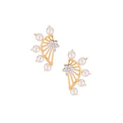 Sharisse Pearl Drop Ear Jackets - Voylla