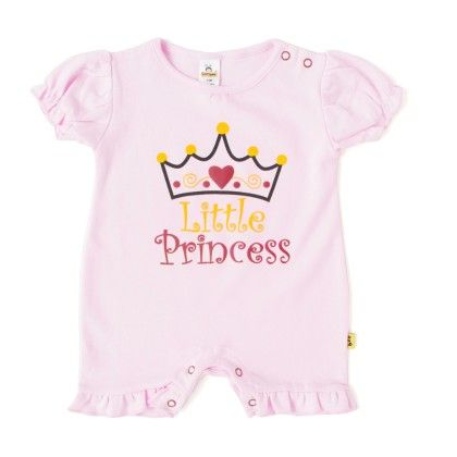 Girls Romper With Frill-light Pink - Tiny Bee